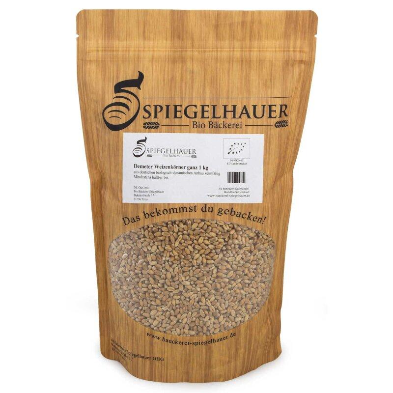 Demeter Weizen ganz 1 kg keimfähig